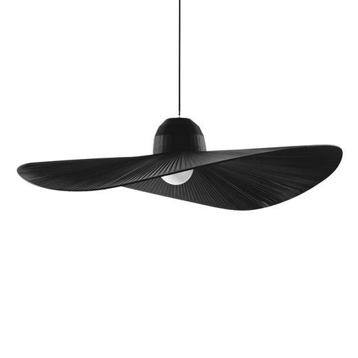 HÄNGELEUCHTE - Schwarz, Design, Textil/Metall (110/43-145cm)
