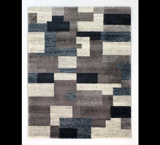 WEBTEPPICH  160/230 cm  Grau, Petrol   - Petrol/Grau, KONVENTIONELL, Textil (160/230cm) - Novel