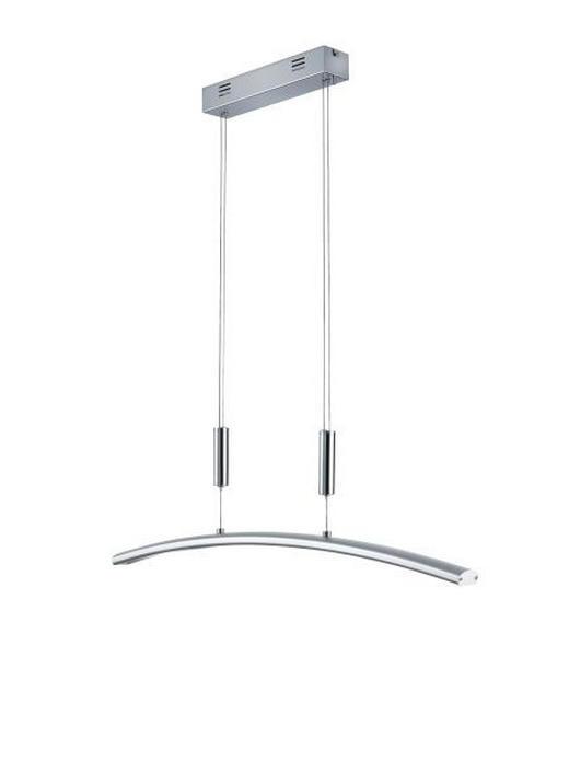 HÄNGELEUCHTE - Alufarben, Design, Metall (80/95-160/4,5cm)
