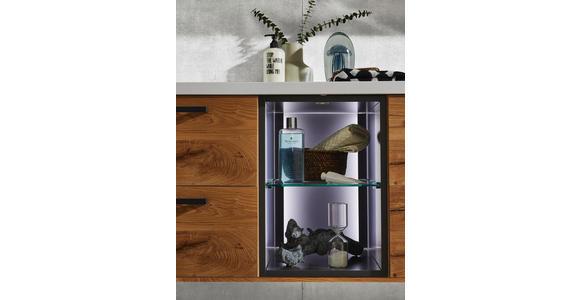 BADEZIMMER - Eichefarben/Anthrazit, Basics, Glas/Holz (155cm) - Dieter Knoll