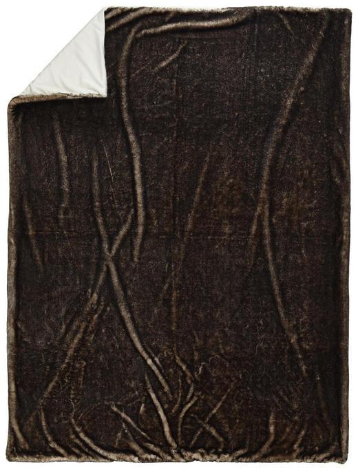 FELLDECKE 150/200 cm Grau - Grau, KONVENTIONELL, Textil (150/200cm) - Novel