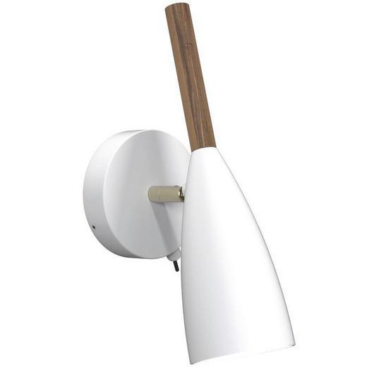 WANDLEUCHTE - Weiß, Design, Holz/Metall (10/26cm)