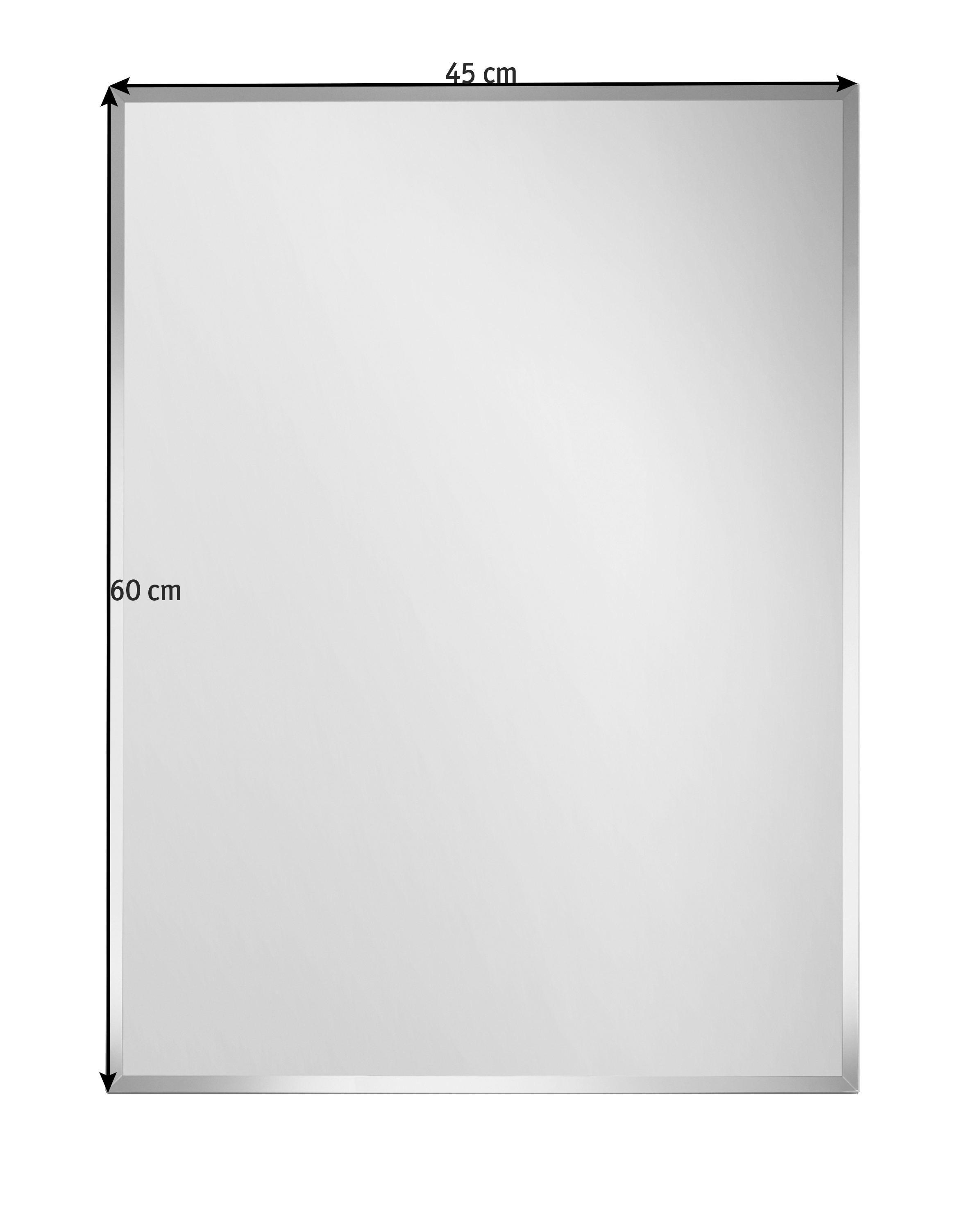 SPIEGEL - Silberfarben, Design (45/60/0,3cm) - BOXXX