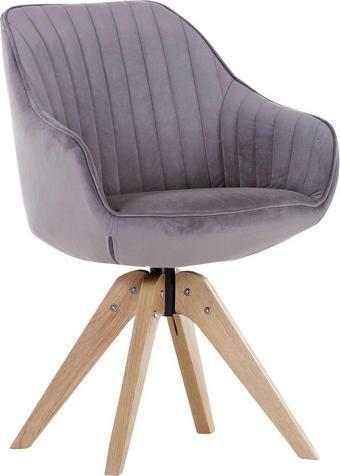 STUHL Flachgewebe Schlammfarben - Schlammfarben/Eichefarben, Design, Holz/Textil (60/83/65cm) - Hom`in