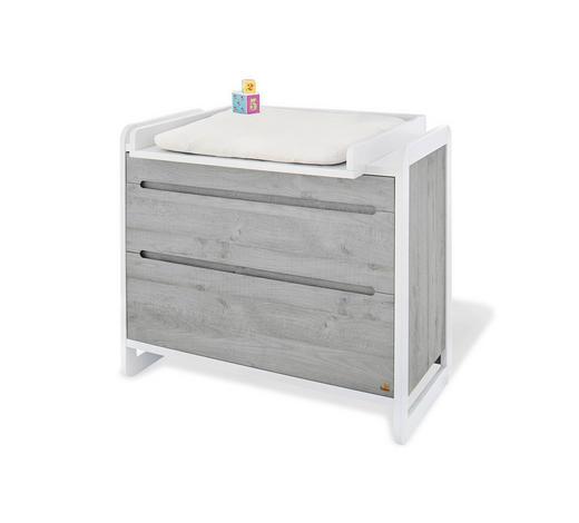 WICKELKOMMODE Pinolino Curve Grau, Weiß  - Weiß/Grau, Trend, Holzwerkstoff (115/78/102cm)