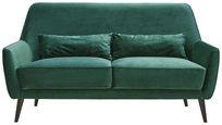 TŘÍMÍSTNÁ POHOVKA, tmavě zelená, textil,  - černá/tmavě zelená, Trend, dřevo/textil (160/86/80cm) - Carryhome