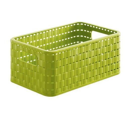 KORB - Grün, KONVENTIONELL, Kunststoff (28/18.5/12.6cm) - Rotho