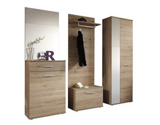 PREDSOBLJE - boje hrasta, Design, drvni materijal (64/198/36cm) - BOXXX