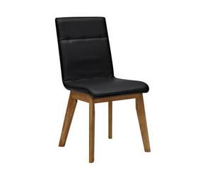 STOL - svart/ekfärgad, Design, trä/textil (45/91/58,5cm) - Premium Living