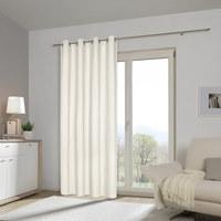 ÖSENVORHANG blickdicht - Weiß, Basics, Textil (140/245cm) - Esposa