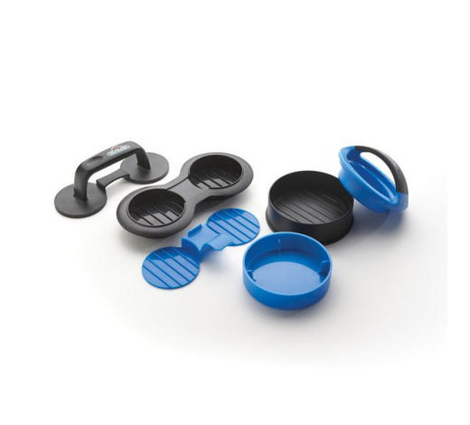 PREŠA ZA HAMBURGERE - plava/crna, Konvencionalno, plastika (20cmcm) - Napoleon
