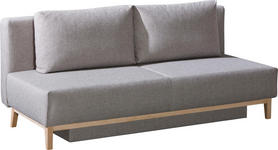SCHLAFSOFA in Textil Grau  - Grau, Design, Holz/Textil (194/89/90cm) - Novel