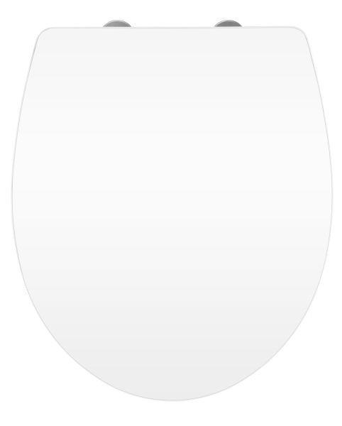 WC-SITZ Weiß - Weiß, Basics, Kunststoff (38,8/45cm)