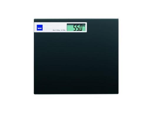 PERSONENWAAGE - Schwarz, Basics, Glas (30/2cm) - Kela