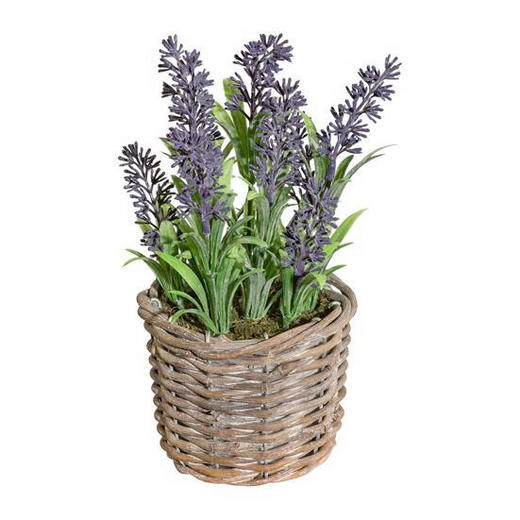 KUNSTBLUME Lavendel - Lila/Grün, Trend, Kunststoff/Weitere Naturmaterialien (20cm)