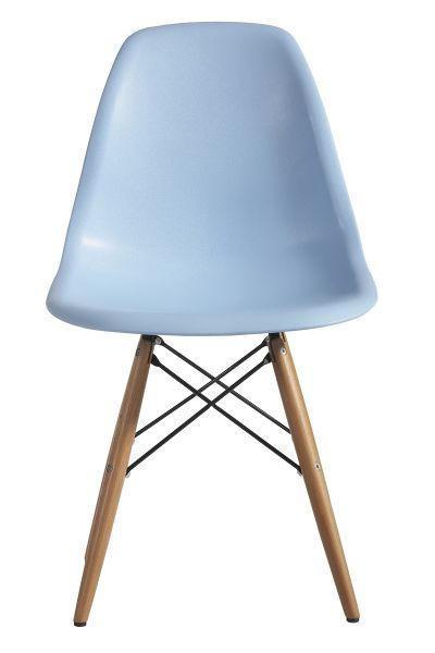 STOL, kovina, les, umetna masa modra - modra, Design, kovina/umetna masa (54/81/47cm) - NOVEL