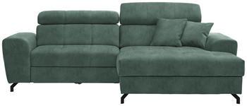 WOHNLANDSCHAFT in Textil Mintgrün  - Schwarz/Mintgrün, MODERN, Textil/Metall (267/181cm) - Carryhome
