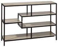 REGAL Schwarz, Eichefarben  - Eichefarben/Schwarz, Trend, Holzwerkstoff/Metall (114/78/34cm) - Xora