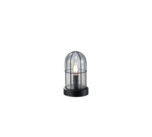 TISCHLEUCHTE - Schwarz, LIFESTYLE, Glas/Metall (12,5/22cm)