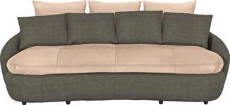 MEGASOFA Flachgewebe Beige, Braun - Beige/Schwarz, Design, Kunststoff/Textil (238/80/143cm) - Hom`in