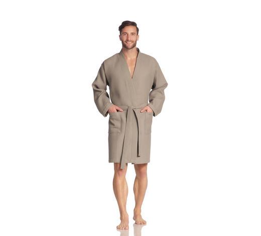 BADEMANTEL S  - Taupe, Basics, Textil (Snull) - Vossen