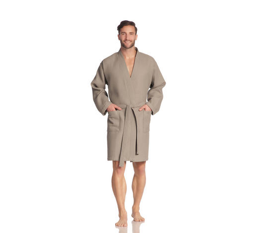 ŽUPAN, M, šedohnědá - šedohnědá, Basics, textil (Mnull) - Vossen