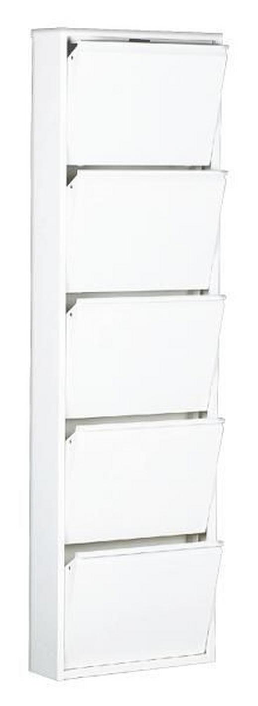 SCHUHKIPPER Weiß - Weiß, Design, Metall (50/169/15cm) - CARRYHOME