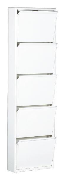 SCHUHKIPPER Weiß - Weiß, MODERN, Metall (50/169/15cm) - CARRYHOME