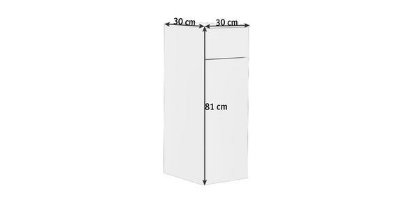 MIDISCHRANK 30/81/30 cm - Weiß, Design, Glas/Holzwerkstoff (30/81/30cm) - Dieter Knoll