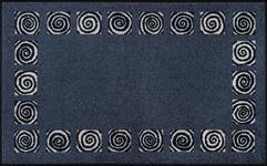 FUßMATTE 75/120 cm Graphik Dunkelblau - Dunkelblau, Kunststoff/Textil (75/120cm) - Esposa