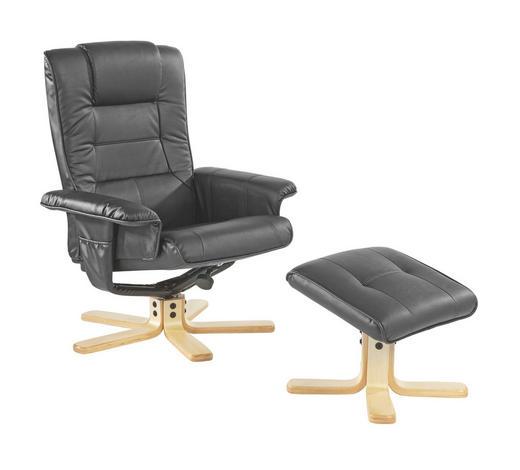 TV-FOTELJ,  črna les, kovina, tekstil - črna, Design, kovina/tekstil (81/78-100,5/100-92cm) - Boxxx