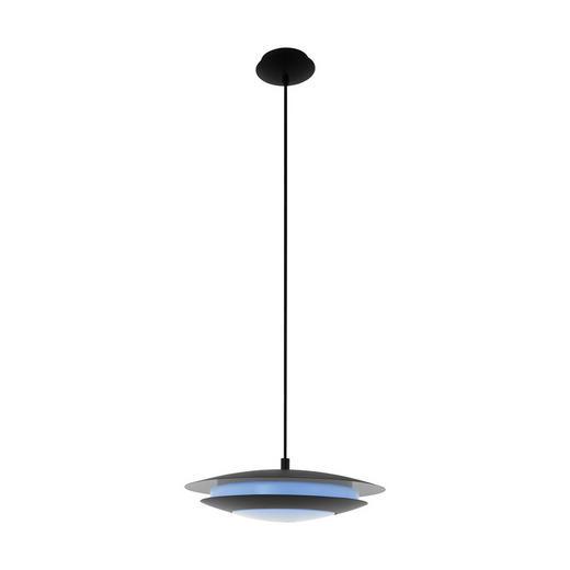 LED-HÄNGELEUCHTE - Schwarz/Weiß, Design, Kunststoff/Metall (40,5/150cm)