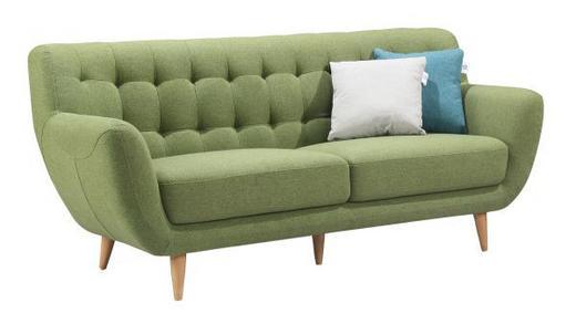TROSJED SOFA - zelena, Design, drvo/tekstil (187/79/82cm) - Ti`me