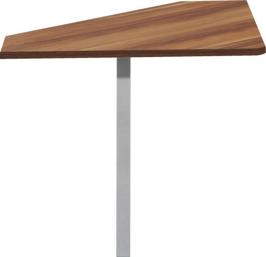 ECKVERBINDUNGSPLATTE Alufarben, Nussbaumfarben - Nussbaumfarben/Alufarben, Design, Metall (75/75/75cm) - Cs Schmal