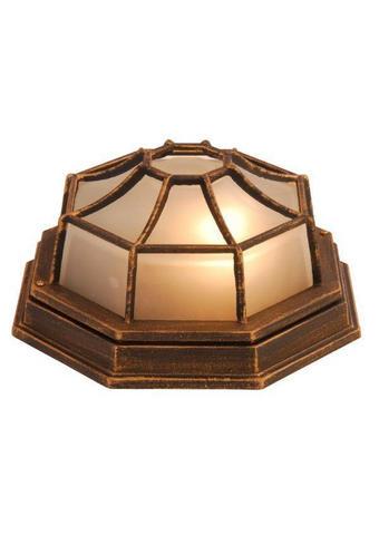 ZUNANJA SVETILKA - črna/zlata, Trendi, kovina/steklo (28/13cm)