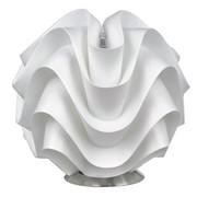TISCHLEUCHTE - Weiß/Nickelfarben, Trend, Kunststoff/Metall (23/22,5cm) - BOXXX