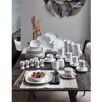 Porzellan  KOMBISERVICE 62-teilig   - Weiß, Keramik (43/32/29cm) - Boxxx