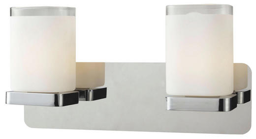 LED-WANDLEUCHTE - Chromfarben, Basics, Glas/Metall (24/11,5/12cm)