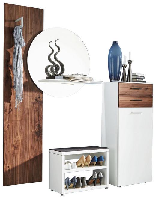 GARDEROBE Nussbaumfarben, Weiß - Nussbaumfarben/Weiß, Design, Glas/Holz (195/193,6/36cm) - Ambiente by Hülsta
