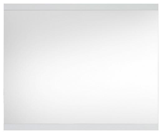 WANDSPIEGEL Weiß - Weiß, KONVENTIONELL, Glas/Holzwerkstoff (120/98/1,9cm) - Carryhome