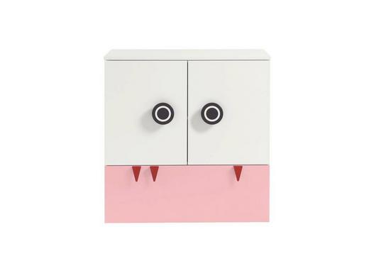 WICKELKOMMODE Now! Minimo Weiß - Hellrosa/Rot, Design, Holzwerkstoff (90,2/93,9/53,1cm) - Now by Hülsta