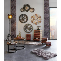 ZIDNI SAT - smeđa, Basics, drvo/metal (107/63/2,5cm) - Ambia Home