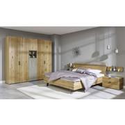LOŽNICE, barvy dubu, šedá - šedá/barvy dubu, Design, dřevo/dřevěný materiál (180/200cm) - Hülsta