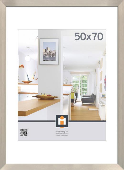 BILDERRAHMEN in Silberfarben - Silberfarben, Basics, Glas/Kunststoff (53/73/1,5cm)