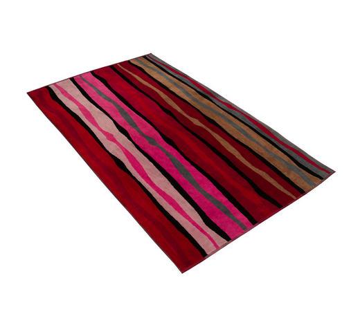 STRANDTUCH 100/180 cm - Beige/Rot, KONVENTIONELL, Textil (100/180cm) - Vossen