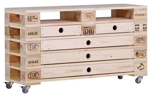 SIDEBOARD massiv Natur Naturfarben - Naturfarben, Trend, Holz/Kunststoff (120/70/40cm) - Carryhome