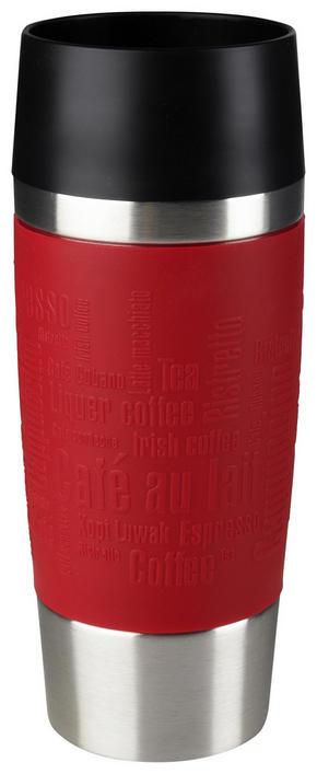 COFFEE-TO-GO-MUGG - röd/svart, Design, metall/plast (0,36l) - Tefal