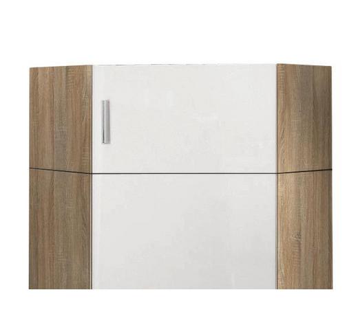AUFSATZSCHRANK - Chromfarben/Eichefarben, Design, Holzwerkstoff/Kunststoff (80/40/80cm) - Xora