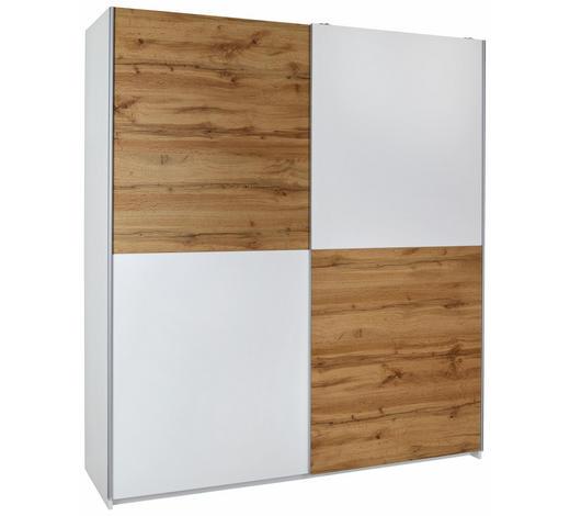 ORMAR S KLIZNIM VRATIMA - bijela/boje hrasta, Moderno, drvni materijal/metal (170/195/59cm) - Ti`me