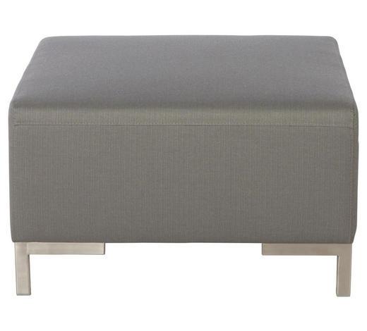 LOUNGEHOCKER  - Silberfarben/Grau, Design, Textil/Metall (77/45/77cm)
